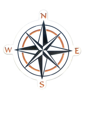 Compass Rose Wall Plaque