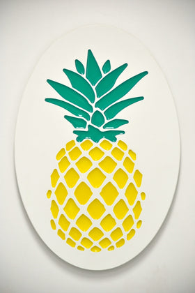 Small Oval Pineapple Plaque - Standard
