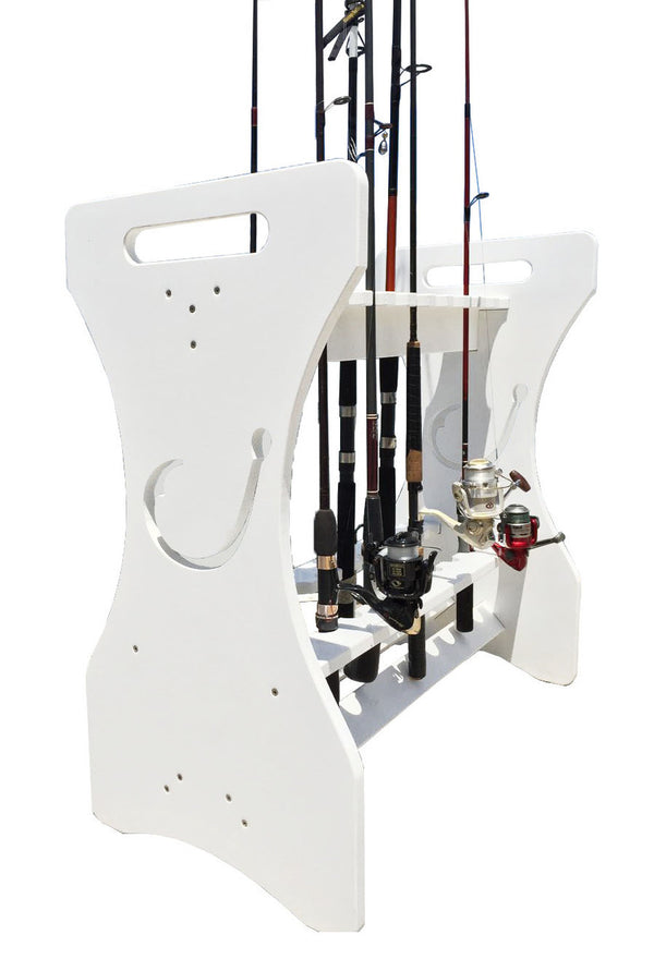 Hook Cut-Out Rod Holder - LG