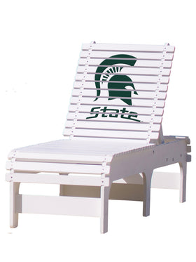 Outdoor Patio Chaise Lounge - Michigan State Spartans