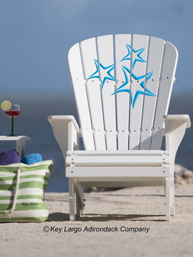 Starfish Blue Adirondack Chair