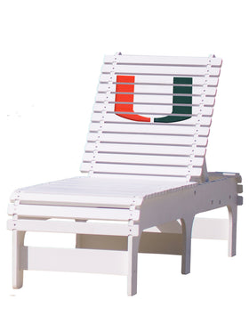Outdoor Patio Chaise Lounge - University of Miami Hurricanes
