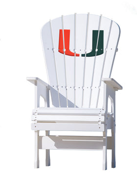 High Top Patio Chair - University of Miami Hurricanes