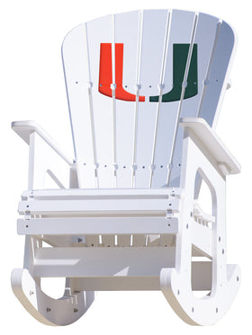 University of Miami Hurricanes Rocking Chair