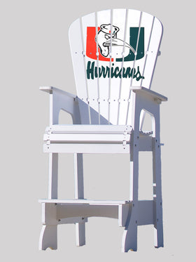 Outdoor Patio Lifeguard Chair - University of Miami Hurricanes with Ibis