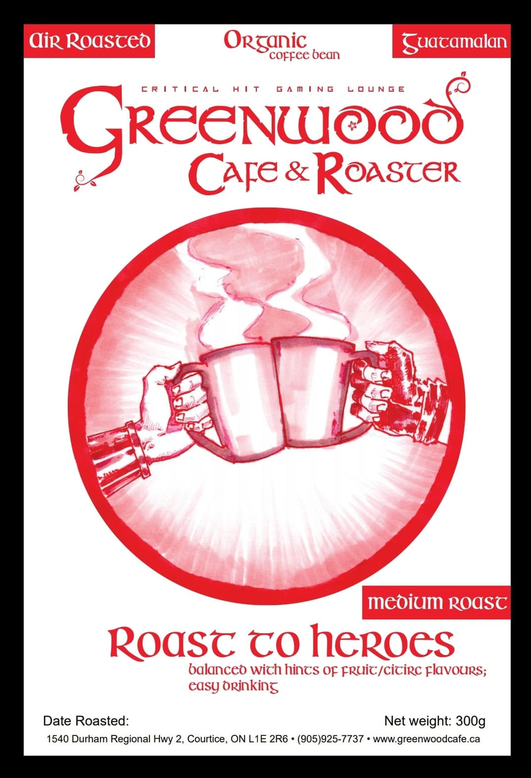 Roast to Heroes - Guatemala Medium Roast Coffee 300g