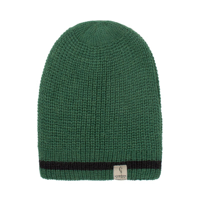 Alpaca Beanie - Black with Ninja Turtle Green