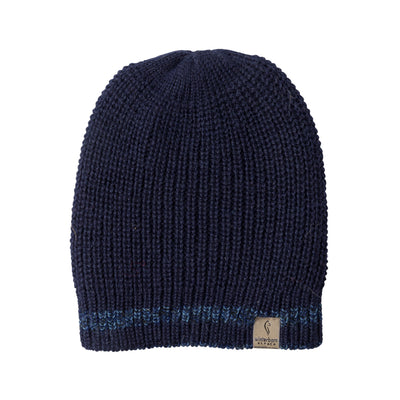 Alpaca Reversible Navy Blue Beanies