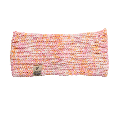 Alpaca White Pink Orange Headbands