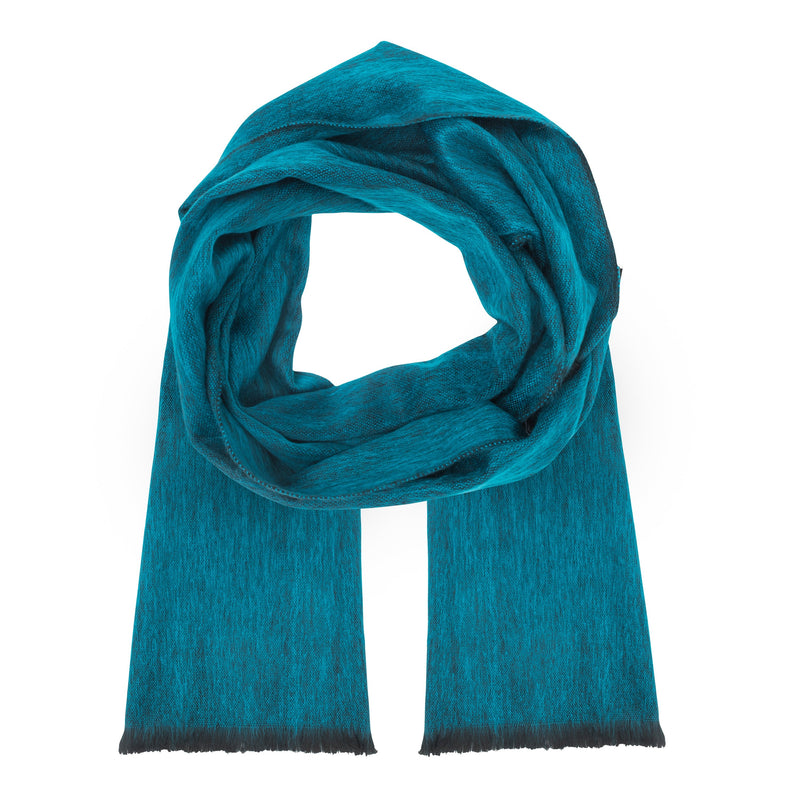 Alpaca Light Turquoise Single Weave Scarf