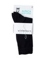 Alpaca Solid Black Socks