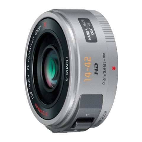 パナソニック H-PS14042-S LUMIX G X VARIO PZ 14-42mm/F3.5-5.6 ASPH./POWER O.I.S. シルバー 【送料無料】