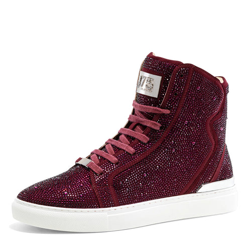 Sestos - Burgundy High top Fashion Sneakers for Men by J75