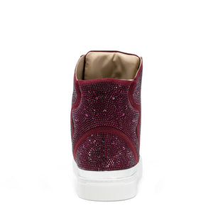 Sestos - Burgundy High top Fashion Sneakers for Men by J75 3