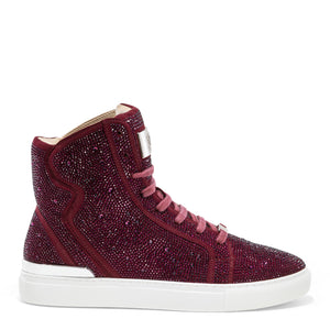 Sestos - Burgundy High top Fashion Sneakers for Men by J75 5