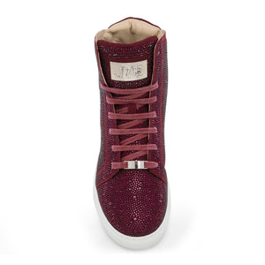 Sestos - Burgundy High top Fashion Sneakers for Men by J75 6