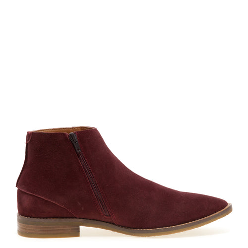 Brighton - Burgundy Chelsea Dress Boots for Men by Jump 5