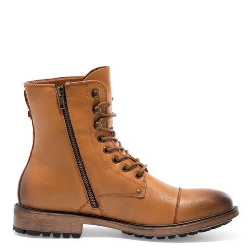 Cylinder - Dark Tan Motorcycle Boots for Men by J75 5