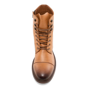 Cylinder - Dark Tan Motorcycle Boots for Men by J75 6