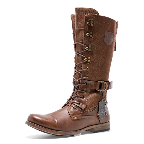 Brown Military Boot