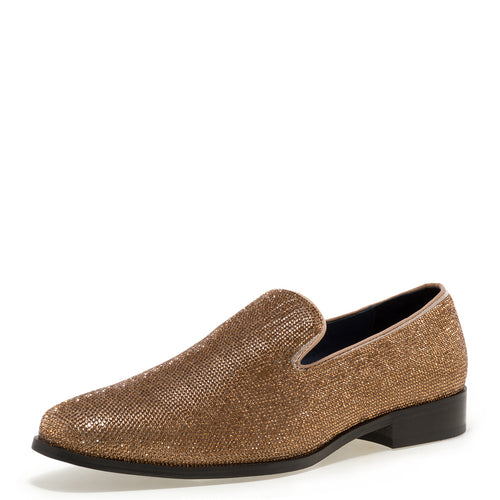 Gem-II - Gold Dress Loafers for Men by Jump