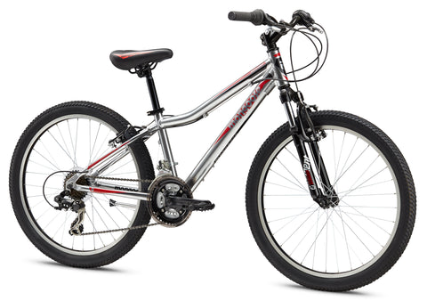 Mongoose Rockadile Comp 24 Inch Boys Mountain Bike