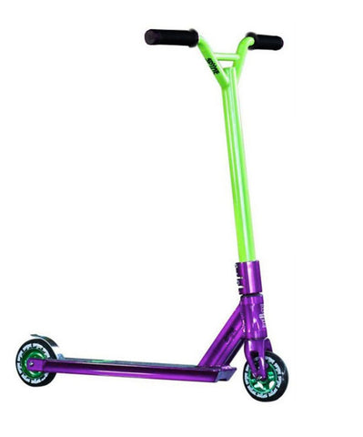 Spyne Purple/Green Complete Scooter