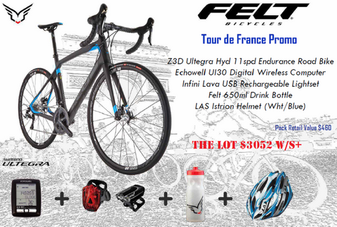 Felt Z3 Tour de France promo pack, $460 worth of free gear!