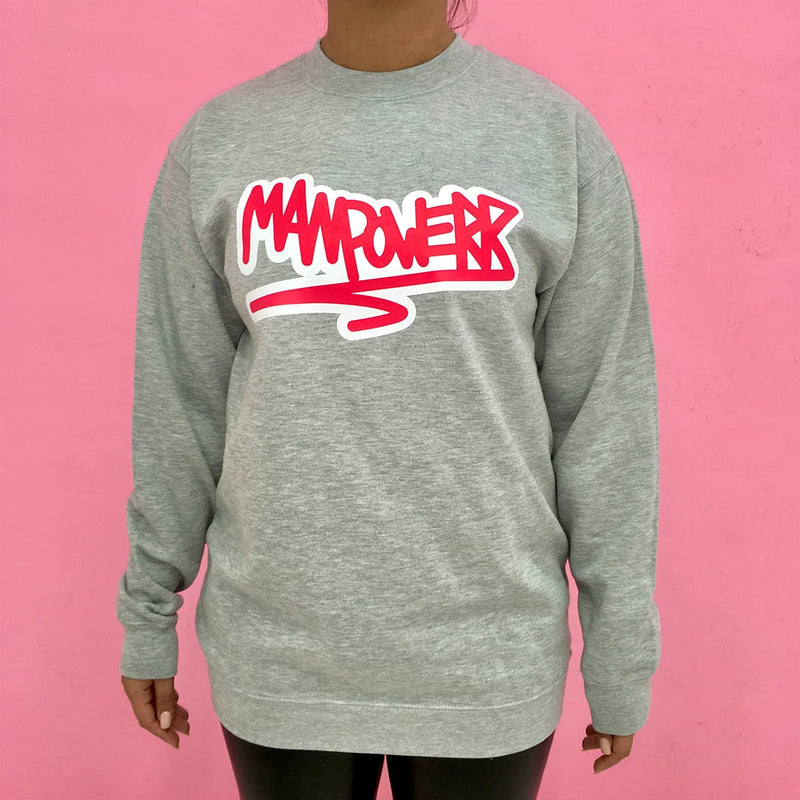 Grijs/Rode Sweater Manpowerr