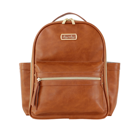 Mini Diaper Bag Backpack- Cognac