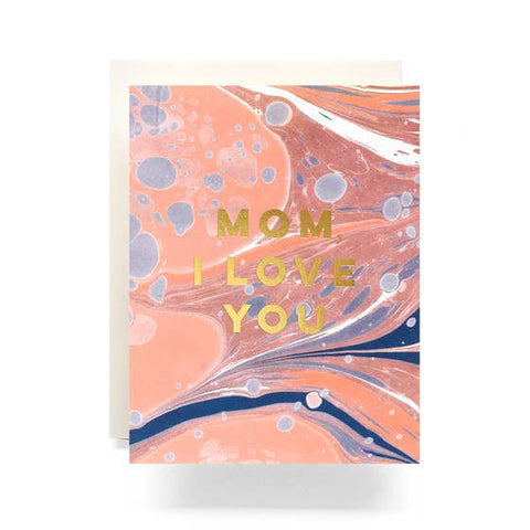 Marble Love You Mom Greeting Card