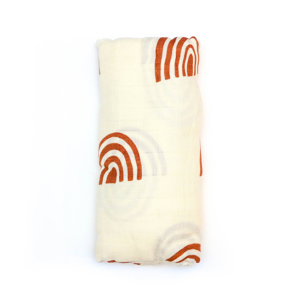 Muslin Swaddle | Retro Rainbow