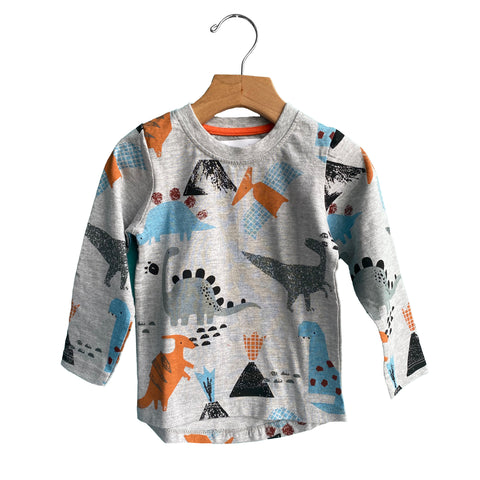 Dinosaur Pattern Long Sleeve Tee