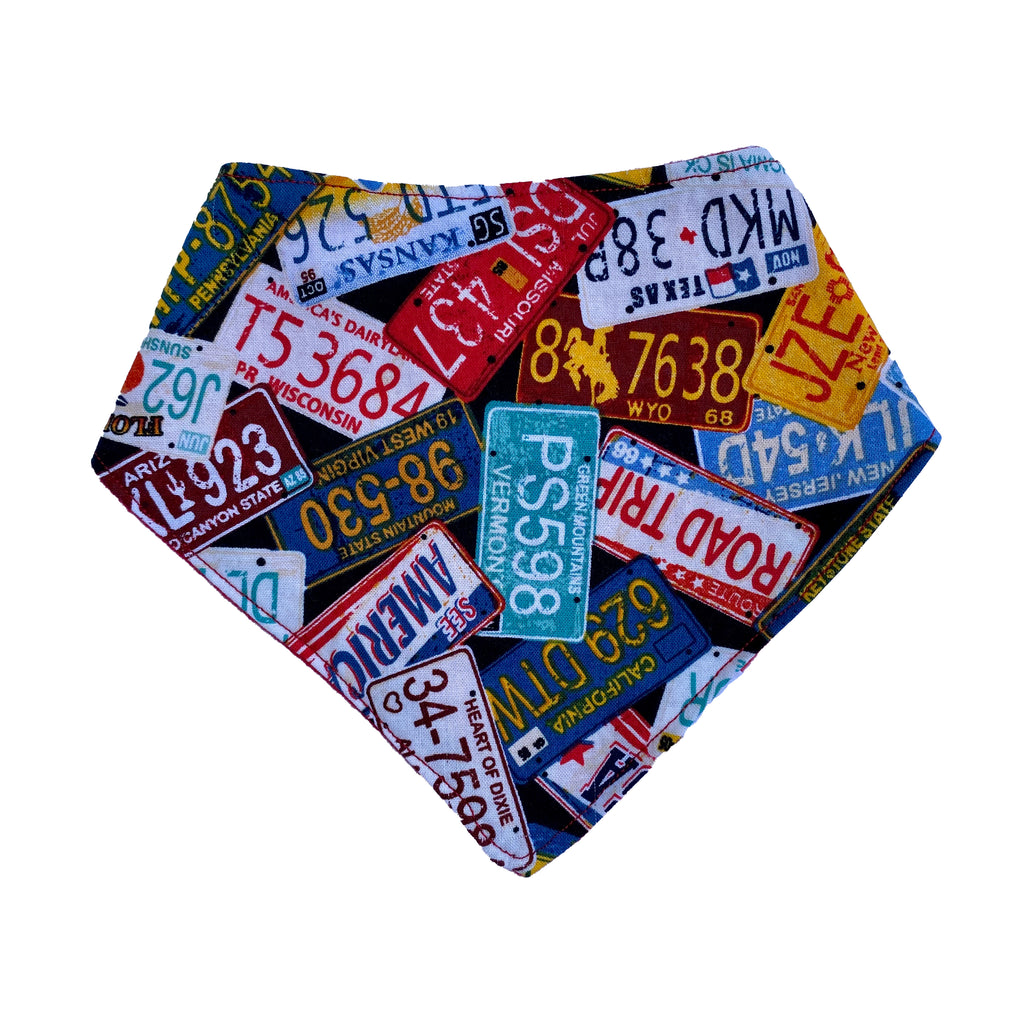 License Plates Bandana Bib