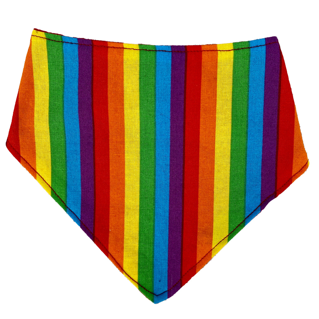 Rainbow Striped Bandana Bib