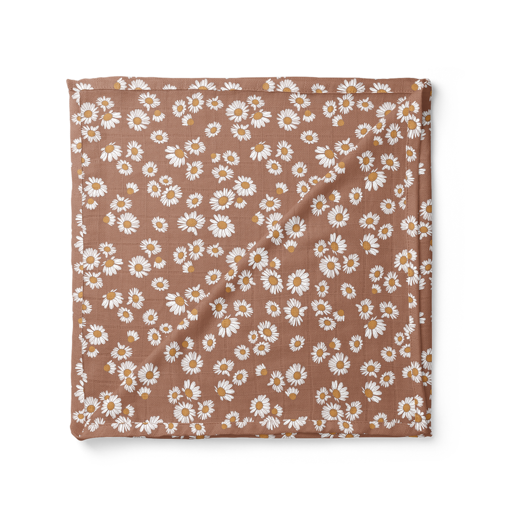 Mini Scout Swaddle- Clay Daisy