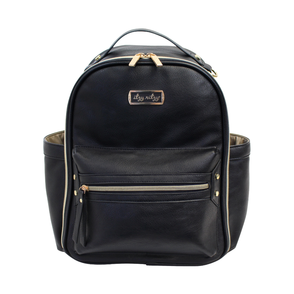 Mini Diaper Bag Backpack- Black