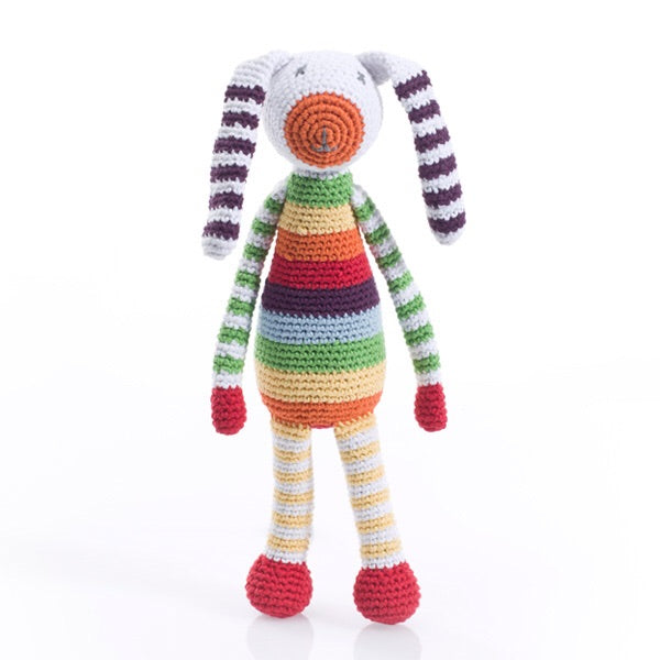Rainbow Rabbit Rattle