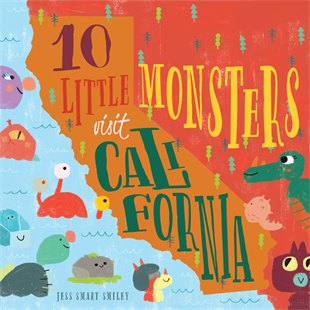 10 Little Monsters Visit California Book
