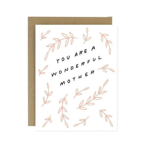 Wonderful Mother Greeting Card