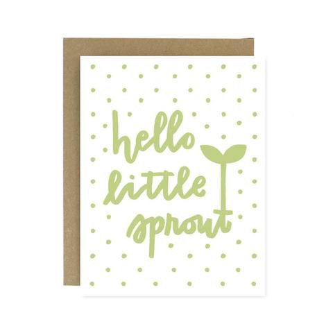 Hello Little Sprout Greeting Card