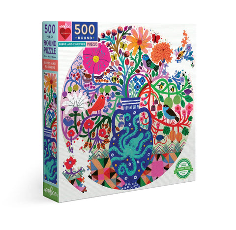Birds & Flowers 500 Piece Puzzle