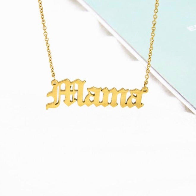 Mama Gold or Silver Necklace