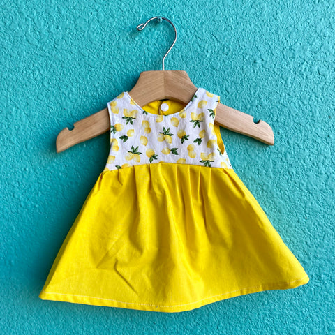 Lemon Contrast Dress
