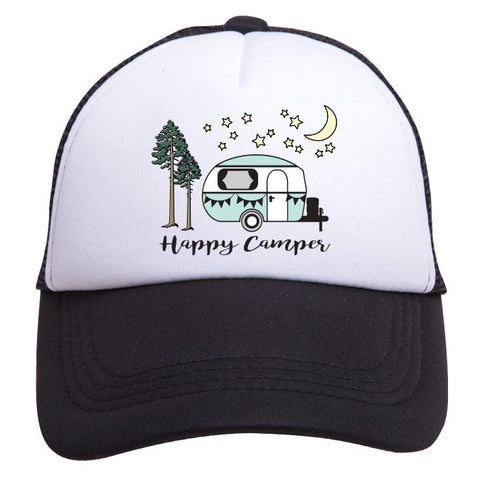 Tiny Trucker Happy Camper Hat