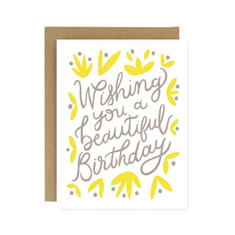 Wishing you a Beautiful Birthday Greeting Card