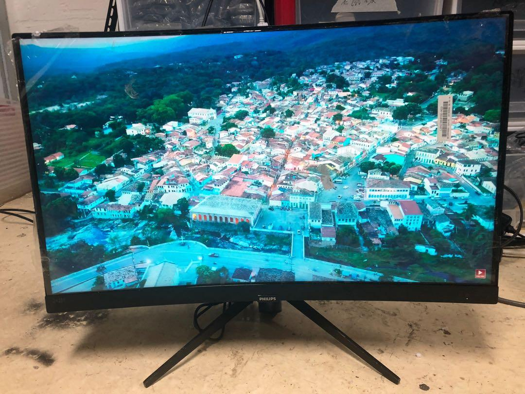 PHILIPS 24吋 24inch 242m7 1080p 144hz 曲面無邊框電競顯示器  Curved Narrow border Gaming monitor $1400