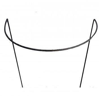 "18""(46cm) Wide Curved Plant Supports. Ready to Rust Style"