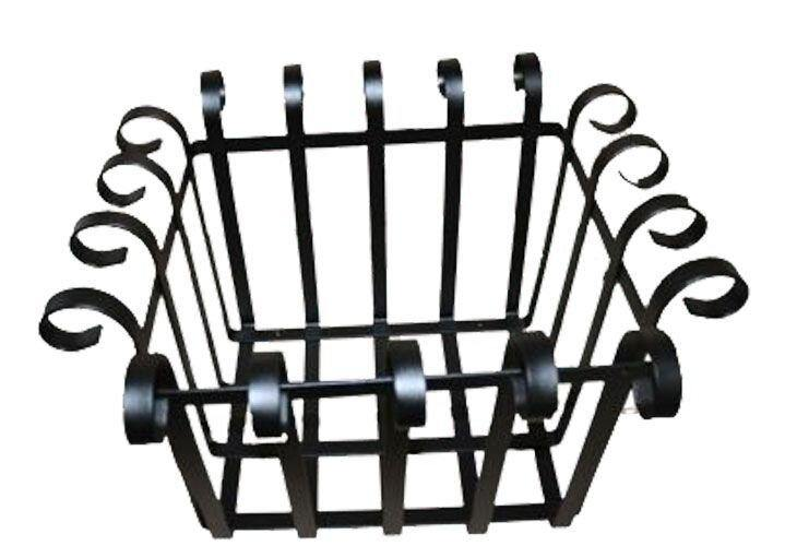 Handmade Rectangle Basket with Scrolls