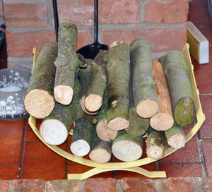 Small Coloured Curved Log Baskets Handmade Range